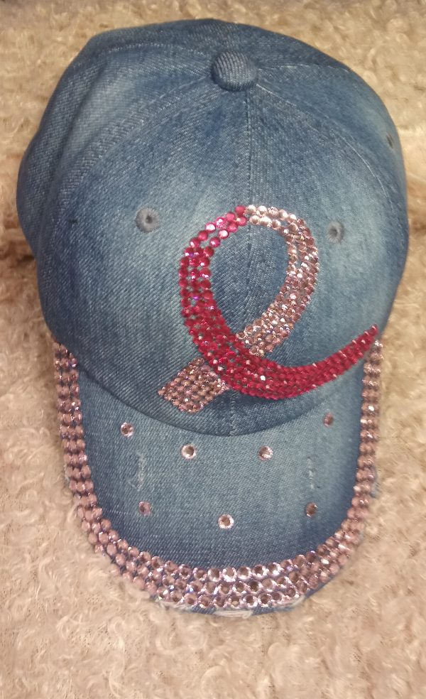 Breast Cancer Bow Hat